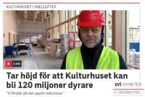 Tomas Teglund (S), ordförande i nämnden för support och lokaler, intervjuas om Kulturhuset