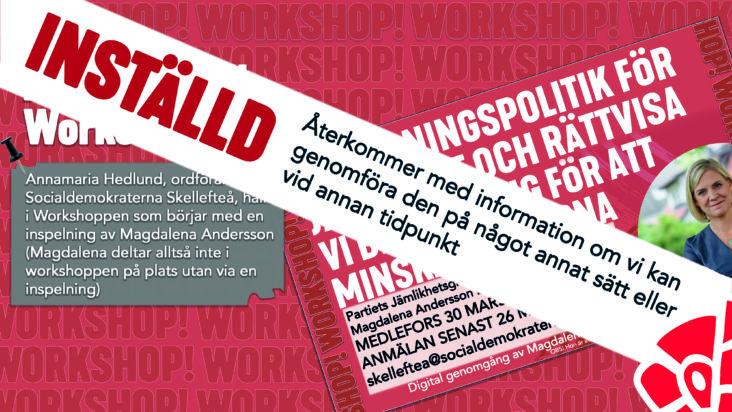 Inställd Workshop